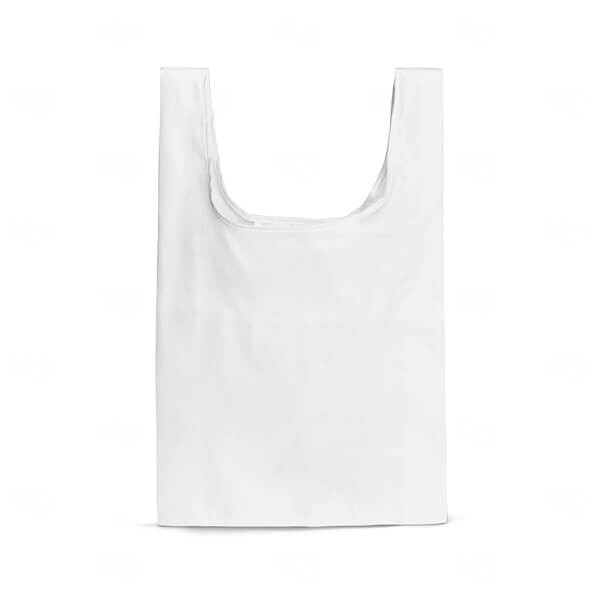 Sacola Dobrável Personalizada Branco