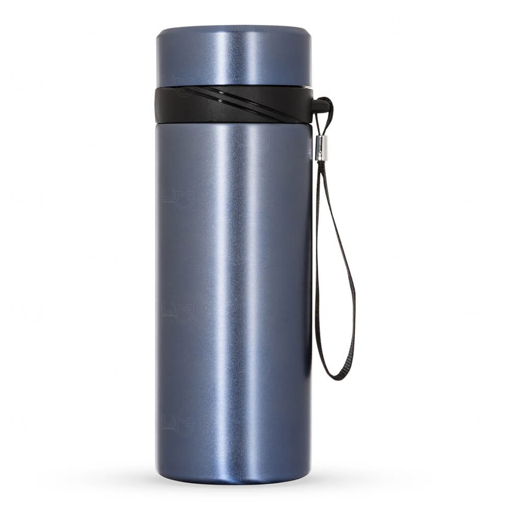Garrafa Térmica Inox Personalizada - 590 ml Azul