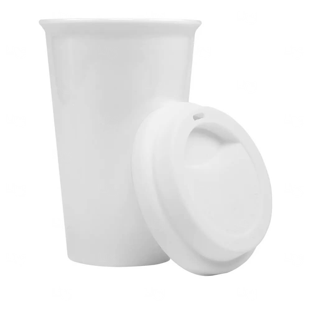 Copo Térmico de Cerâmica Personalizado 250ml Branco