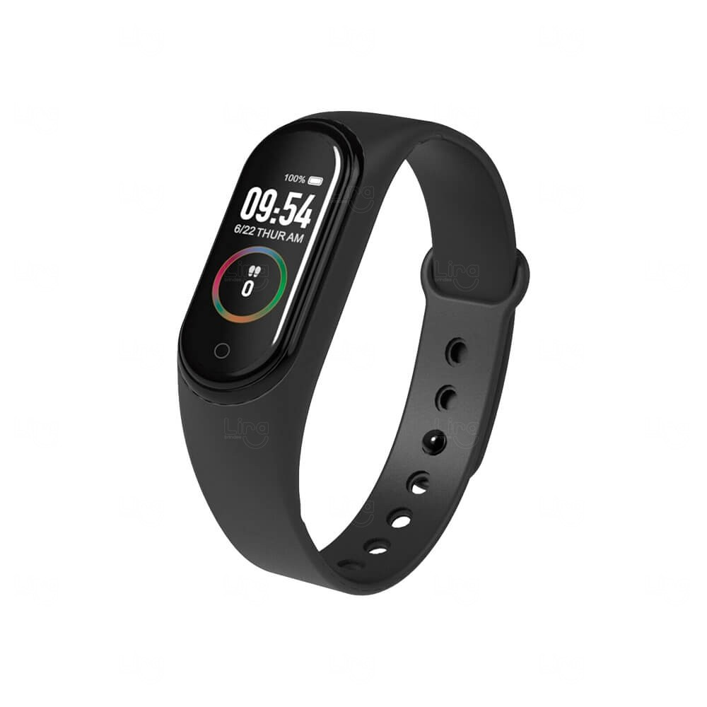 Relógio Smartband Black Pearl 4 Personalizado