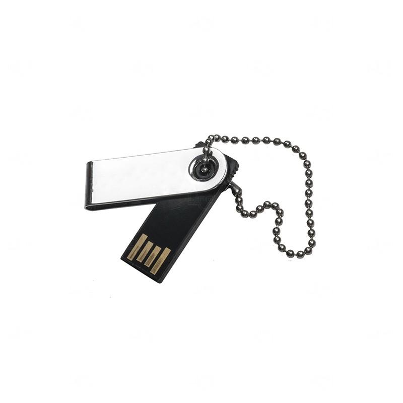 Mini Pen Drive Giratório Personalizado - 4gb Preto