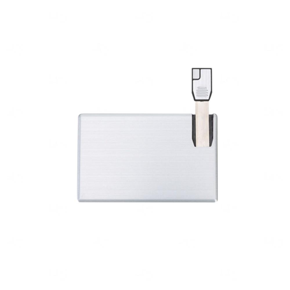 Pen Card Lateral Alumínio Personalizado - 4gb