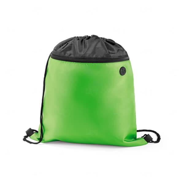 Sacochila com Bolso Frontal Personalizada Verde