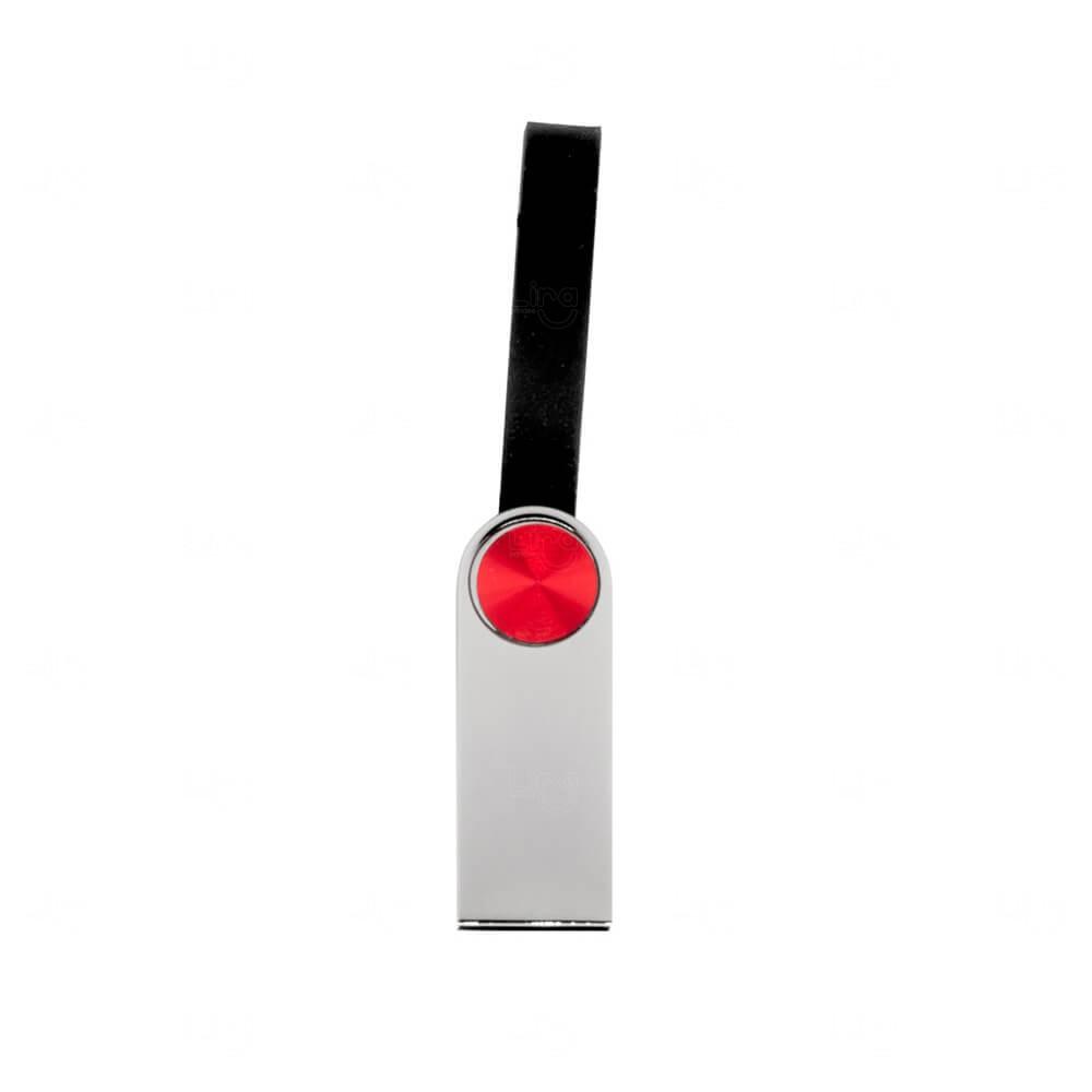 Pen Drive de Metal com Alça Emborrachada Personalizado - 4GB