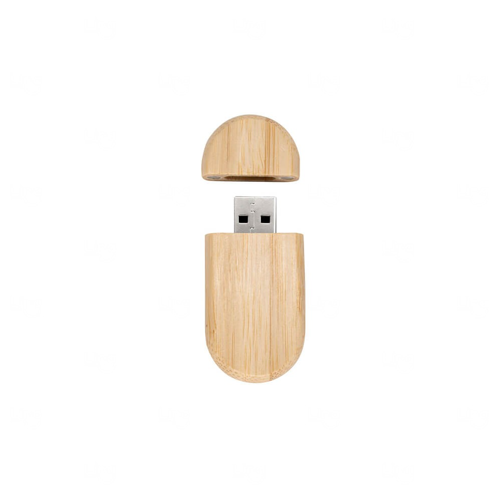 Pen Drive Bambu c/ Tampa Personalizado - 4GB