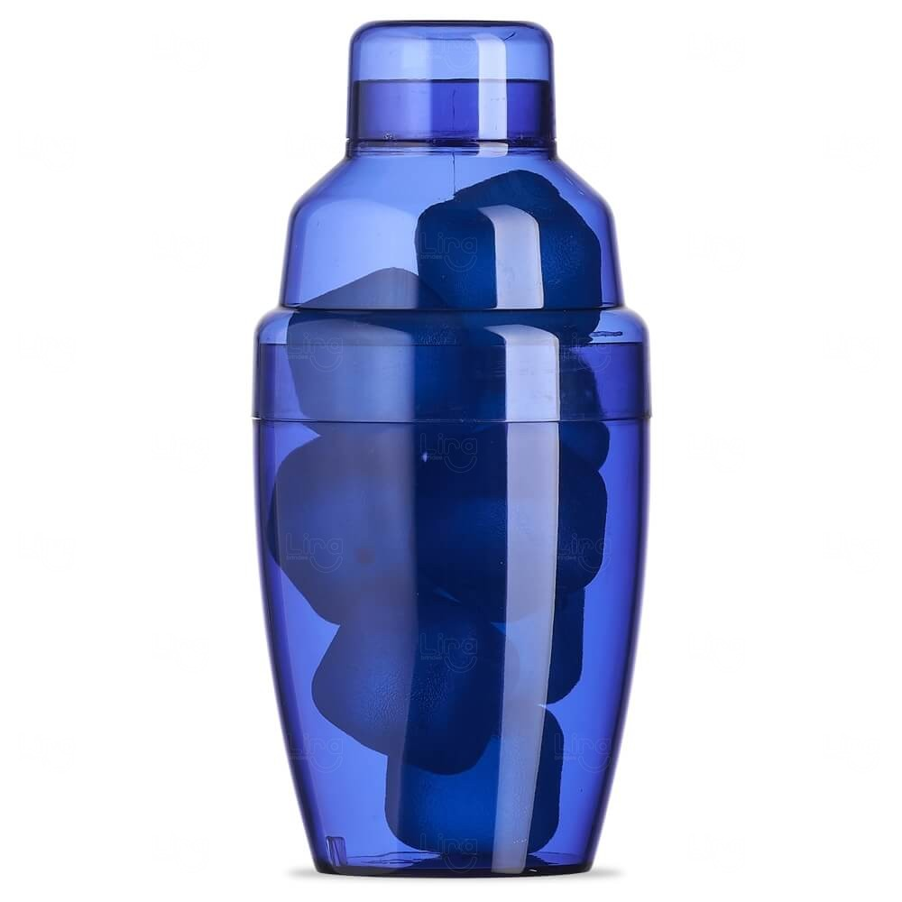 Coqueteleira Plástica C/ Gelo Ecológico Personalizada - 230ml