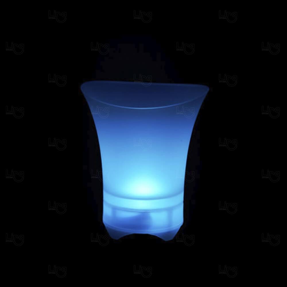 Balde de Gelo Com Speaker Bluetooth Personalizado Azul