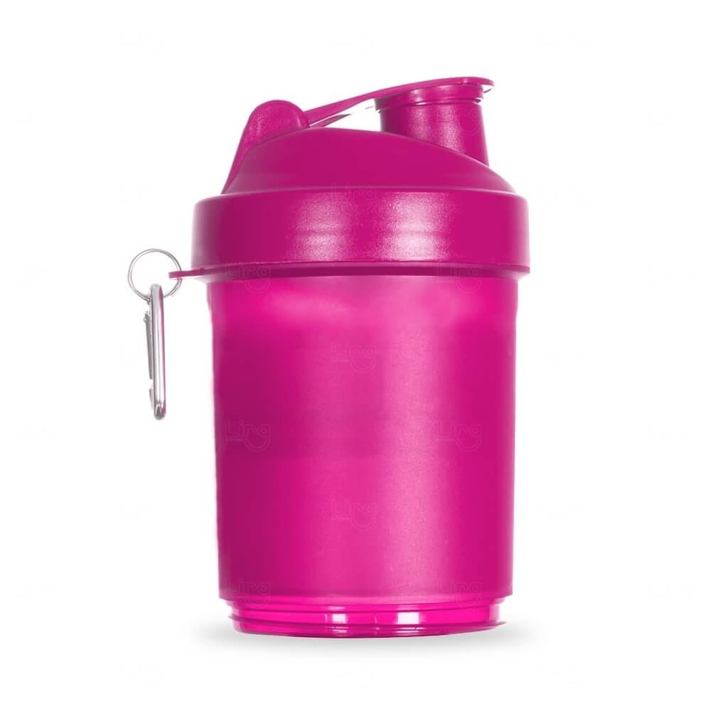 Coqueteleira Porta Suplementos Personalizada - 400ml Rosa