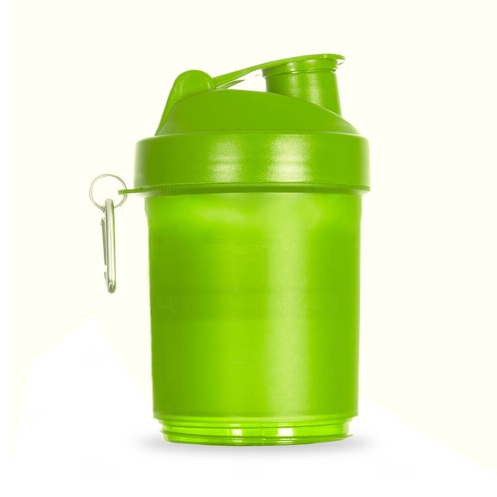 Coqueteleira Porta Suplementos Personalizada - 400ml Verde