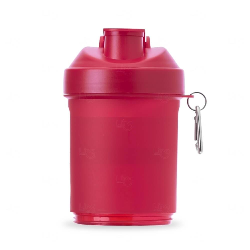 Coqueteleira Porta Suplementos Personalizada - 400ml Vermelho