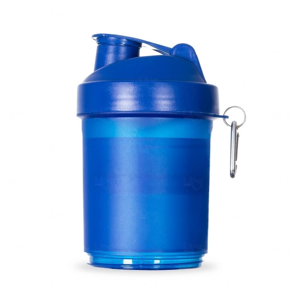 Coqueteleira Porta Suplementos Personalizada - 400ml Azul