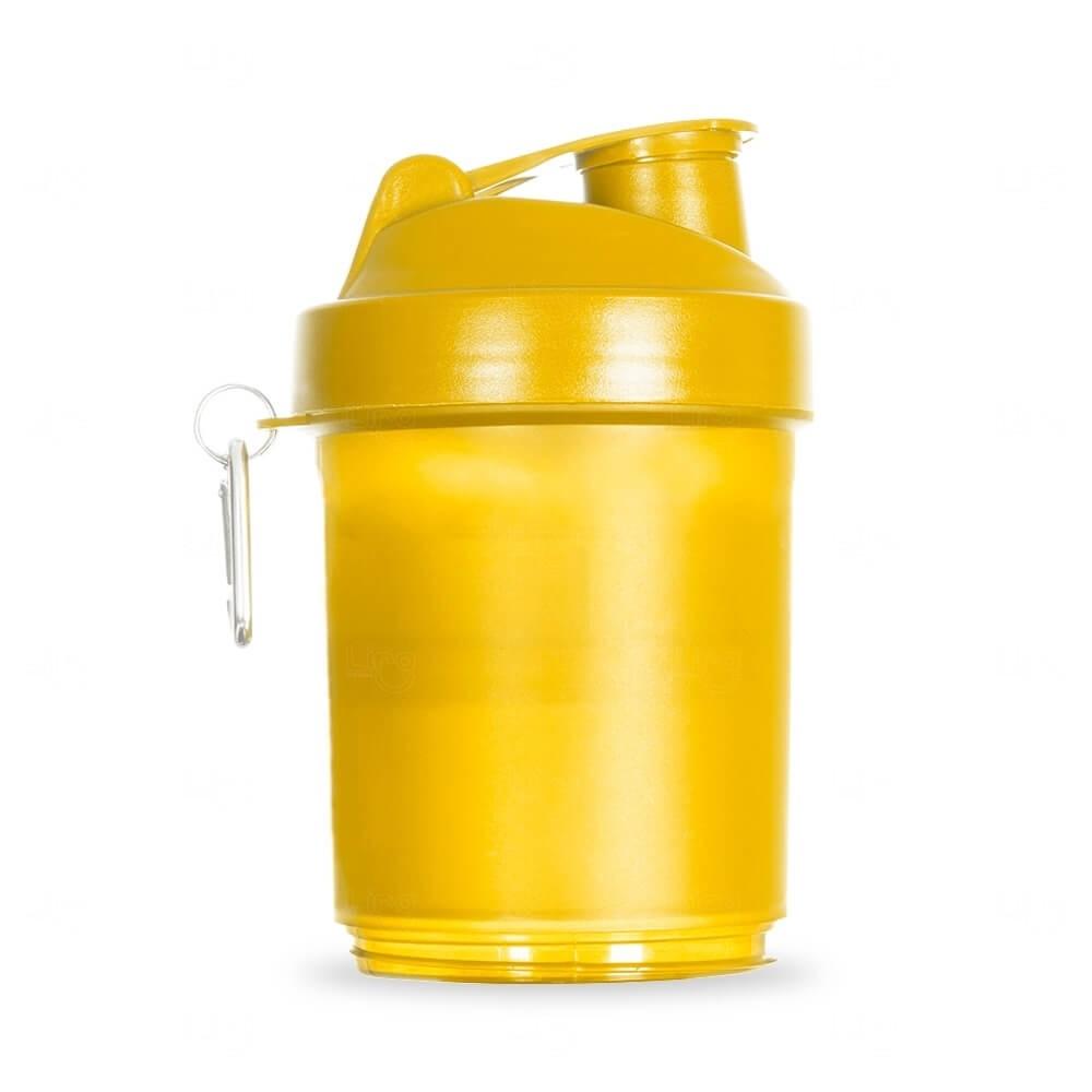 Coqueteleira Porta Suplementos Personalizada - 400ml Amarelo