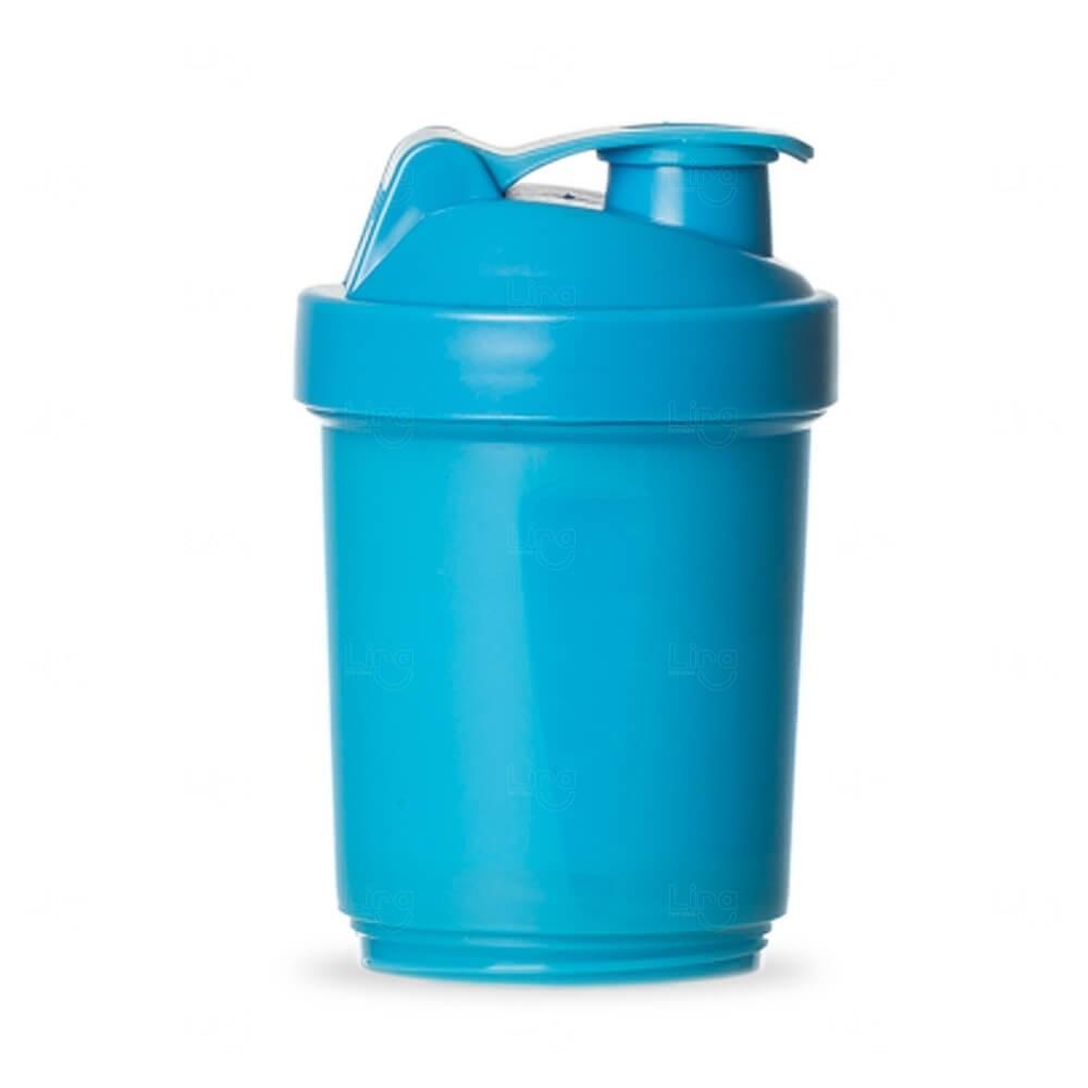 Coqueteleira Porta Suplementos Personalizada - 400ml Azul Claro