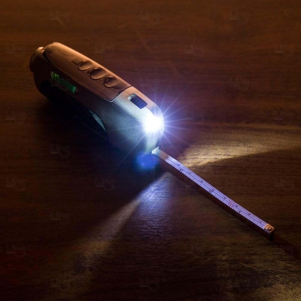 Kit Ferramenta Com Lanterna e Trena Personalizado - 6 Peças