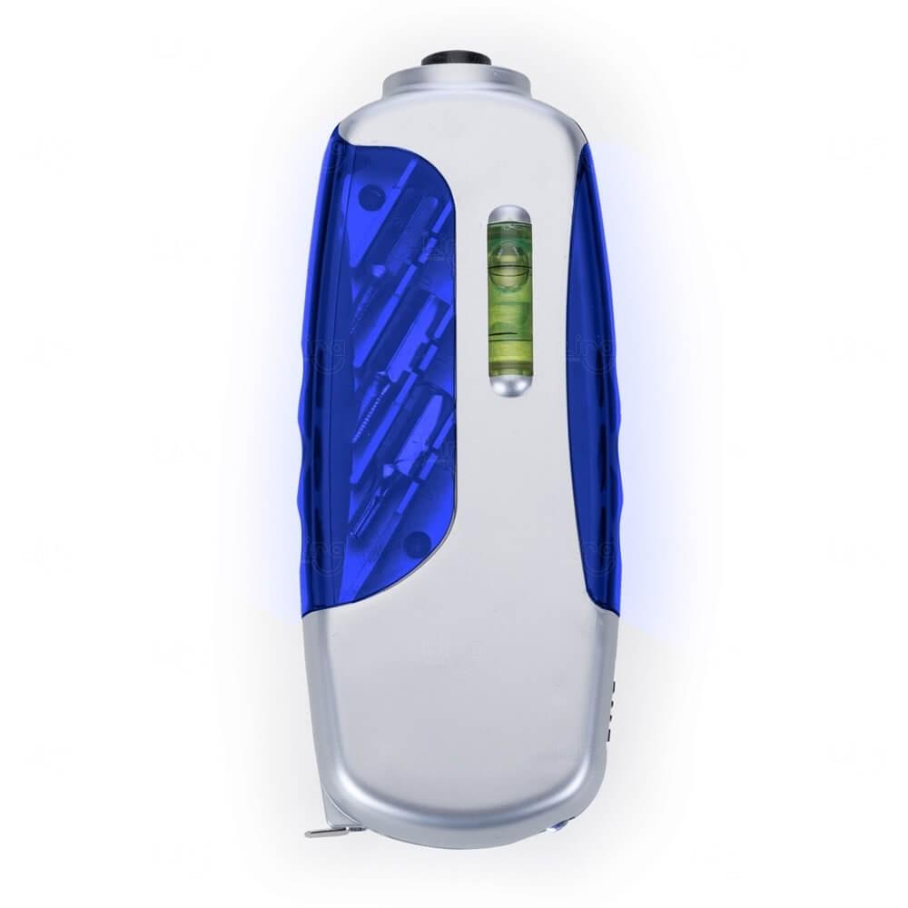Kit Ferramenta Com Lanterna e Trena Personalizado - 6 Peças Azul