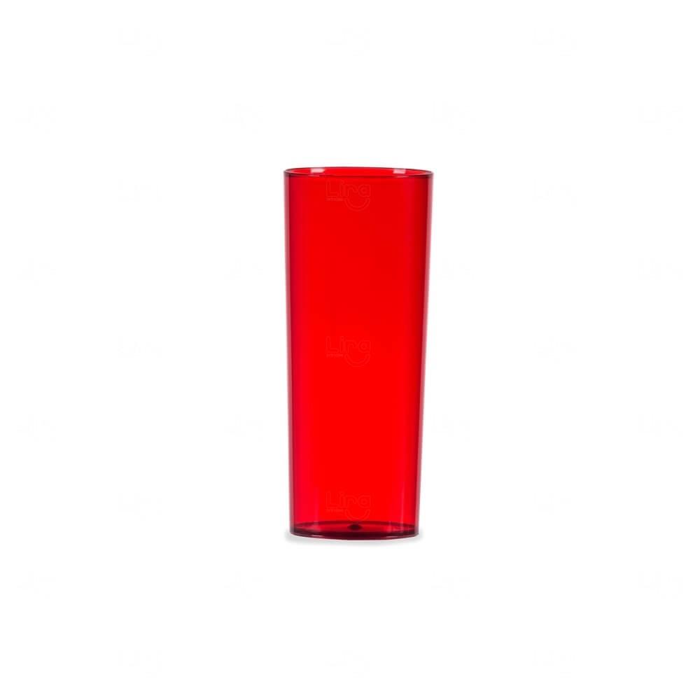 Copo Long Drink Personalizado - 330ml Vermelho