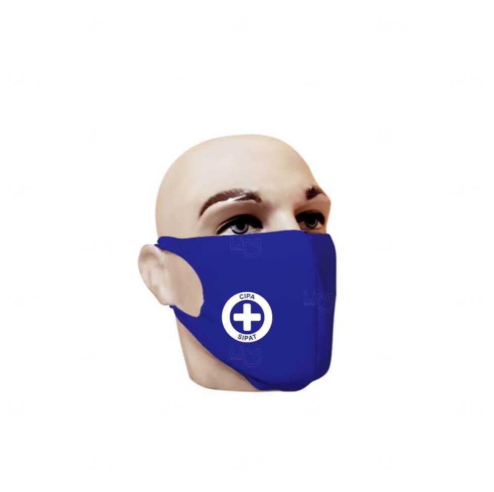 Máscara Reutilizável Personalizada Azul