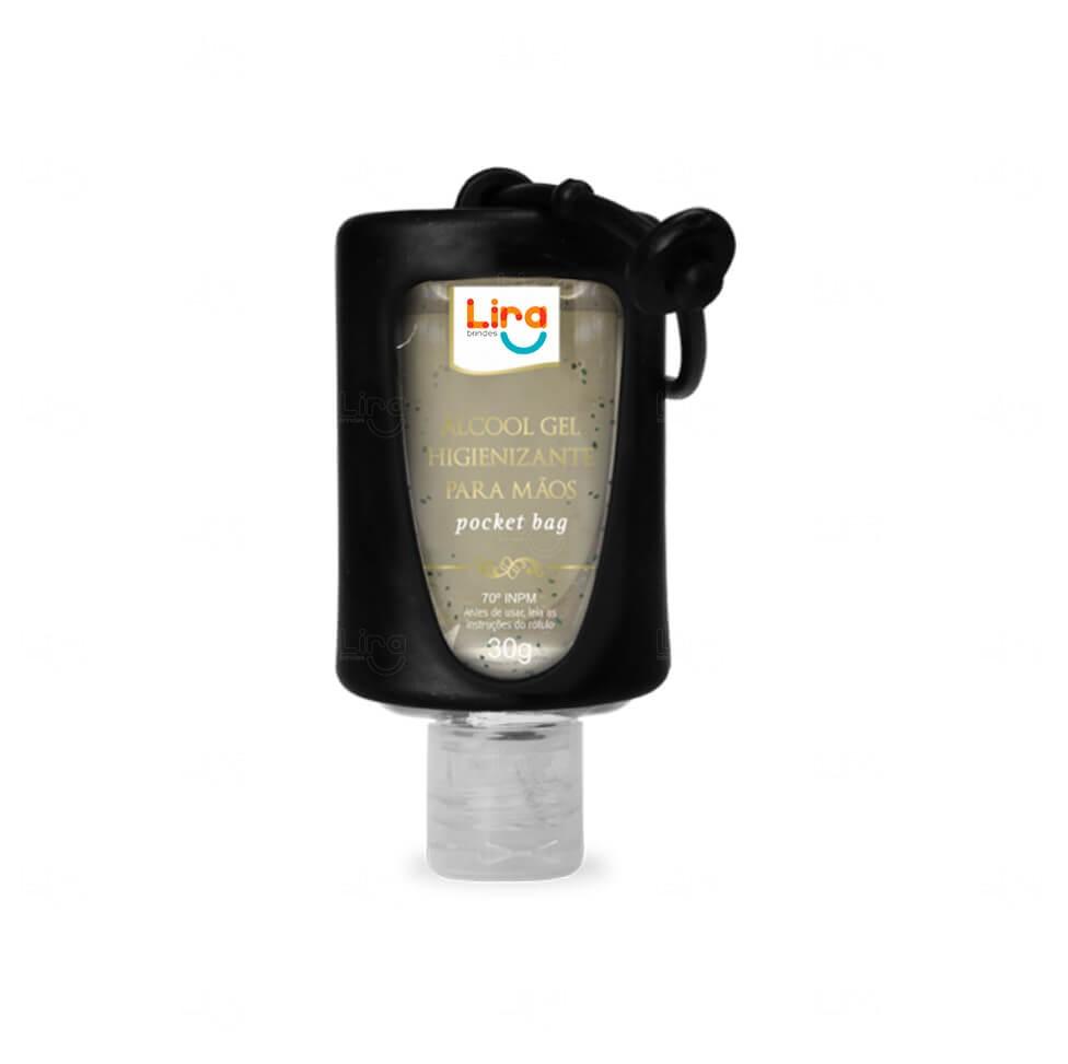 Álcool Gel Com Suporte Silicone Personalizado - 30ml