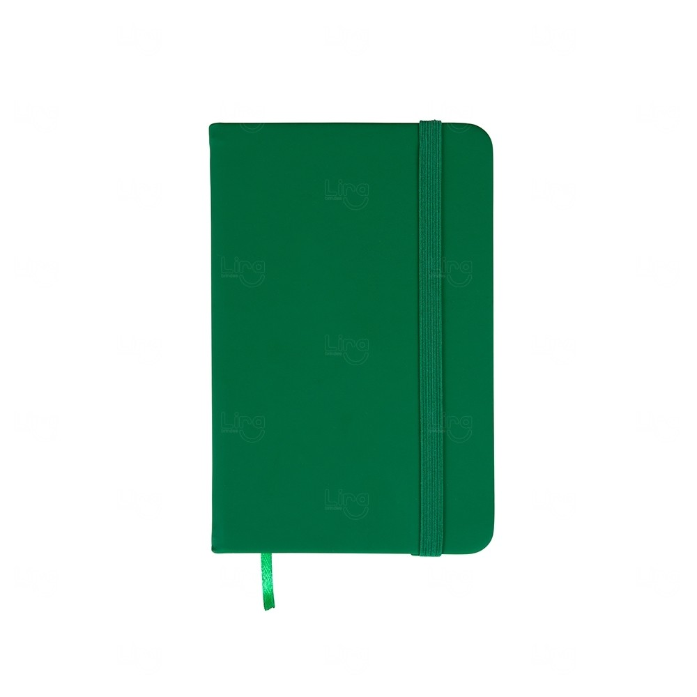 Caderneta Tipo Moleskine Personalizada Verde
