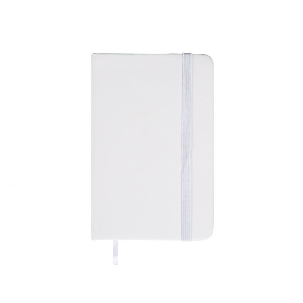Caderneta  Emborrachada Tipo Moleskine Personalizada Branco