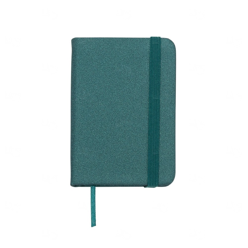 Mini Caderneta Tipo Moleskine Personalizada Verde