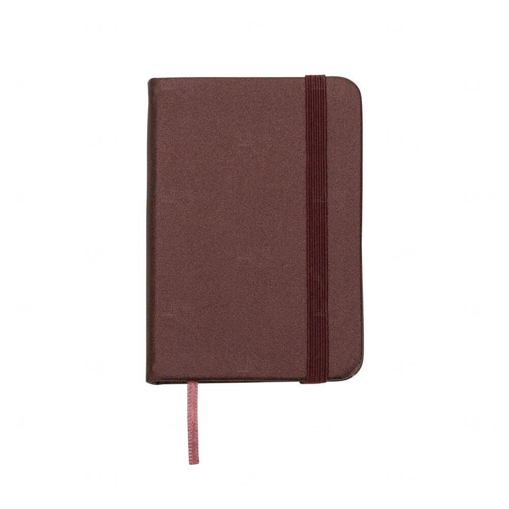 Mini Caderneta Tipo Moleskine Personalizada Vinho