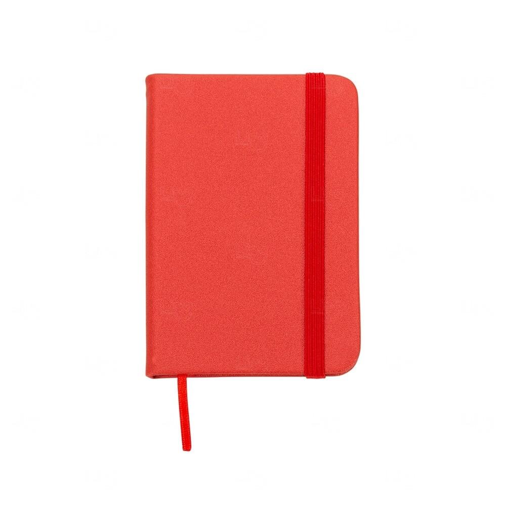Mini Caderneta Tipo Moleskine Personalizada Vermelho