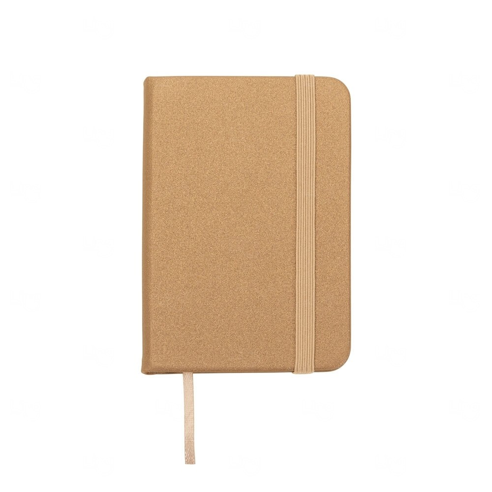 Mini Caderneta Tipo Moleskine Personalizada Dourado