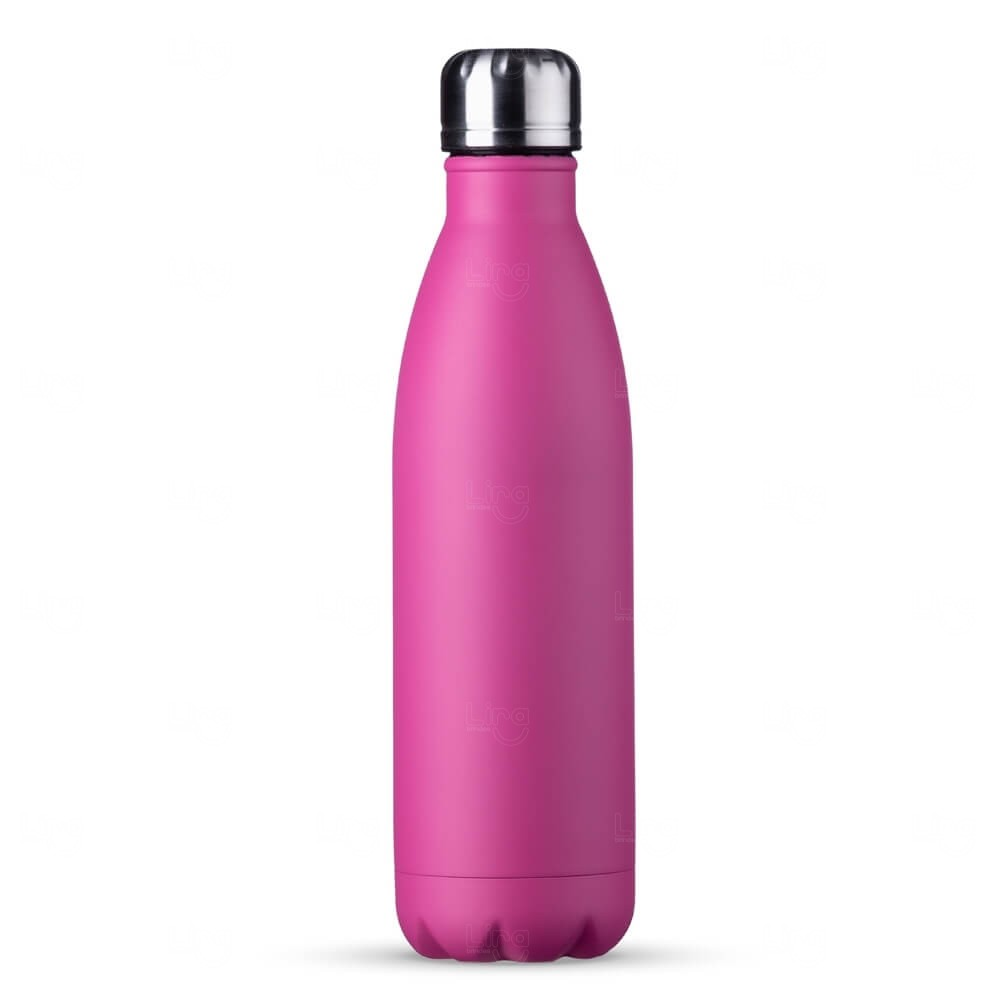 Squeeze Inox Personalizada - 750ml Rosa