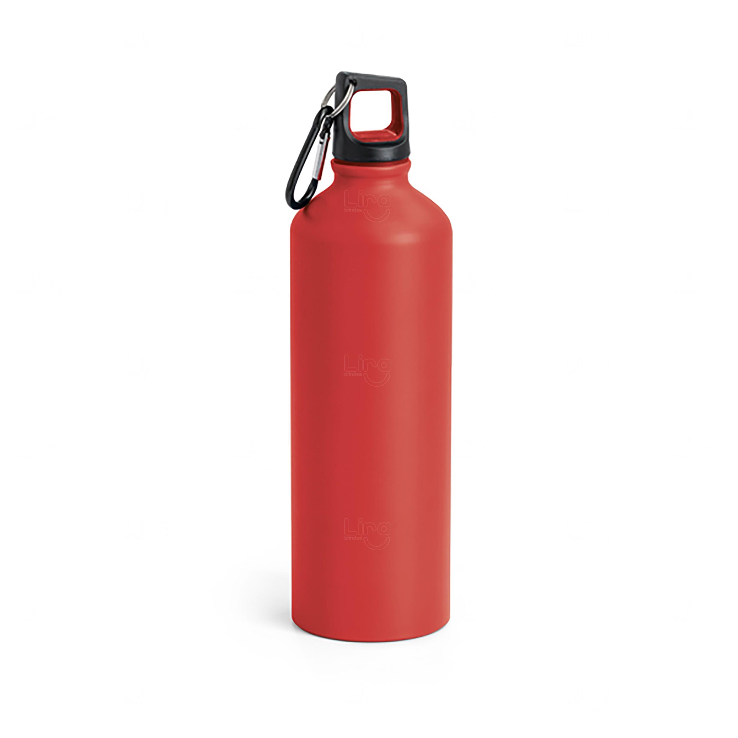 Squeeze Alumínio Personalizada - 800 ml Vermelho