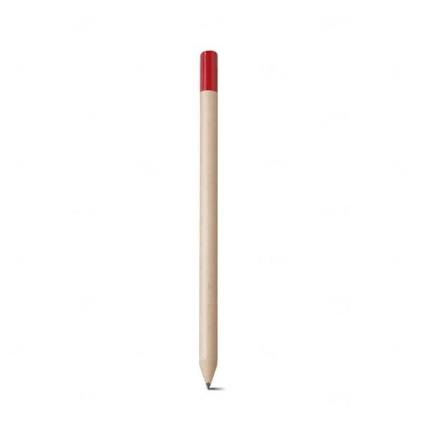 Lápis Personalizado Com Ponta Colorida Vermelho