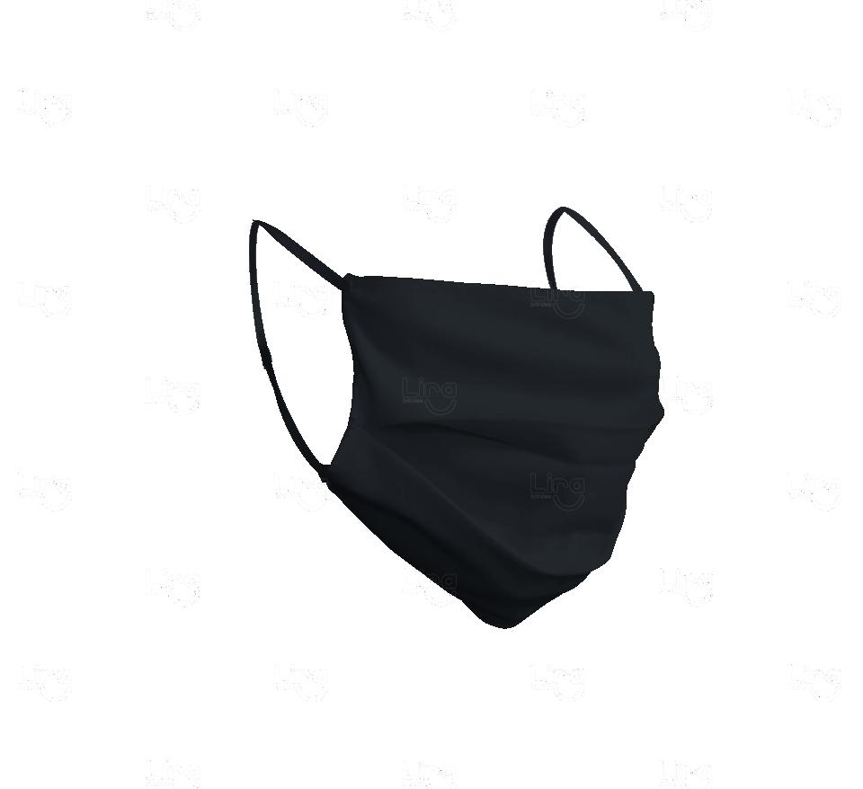 KIT  de  Máscaras Cirúrgicas Personalizadas 10 unidades Preto
