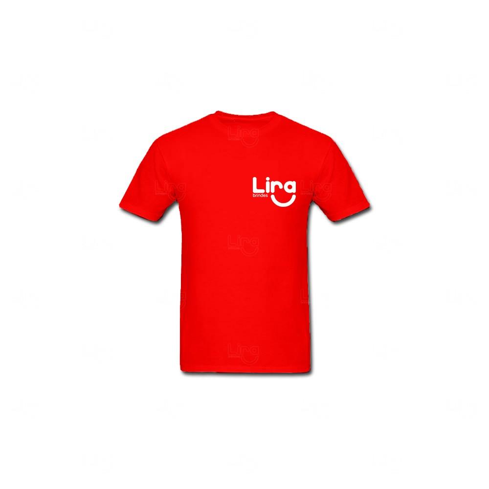 Camiseta Algodão Personalizada Vermelho