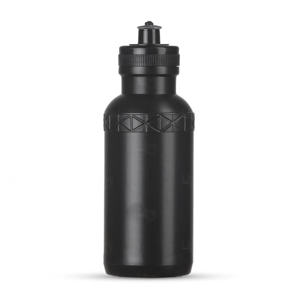 Squeeze Plástica Personalizada - 500ml Preto