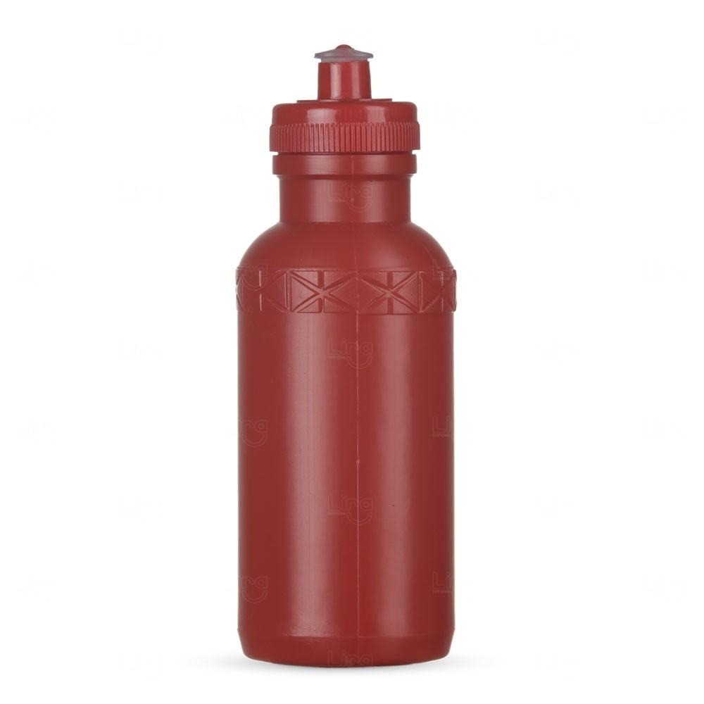 Squeeze Plástica Personalizada - 500ml Vermelho