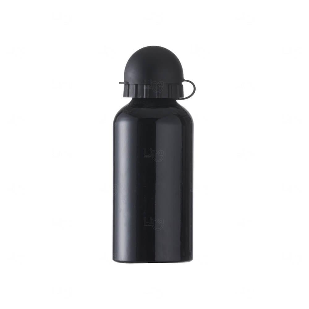 Squeeze Personalizada Em Alumínio - 400ml Preto