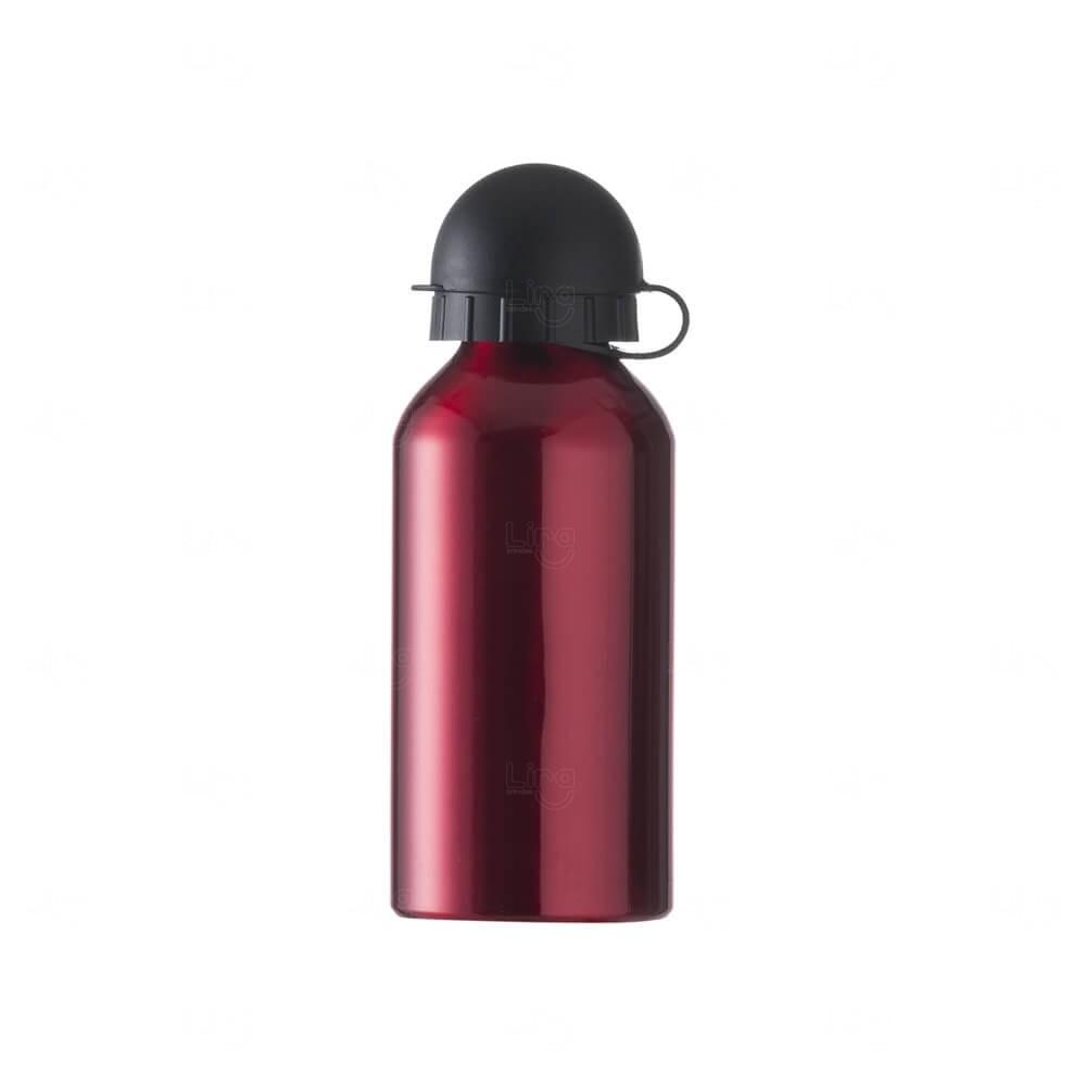 Squeeze Personalizada Em Alumínio - 400ml Vermelho