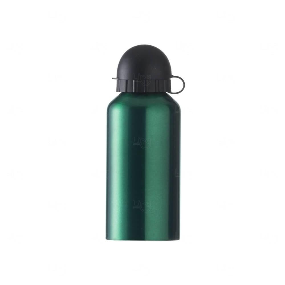 Squeeze Personalizada Em Alumínio - 400ml Verde