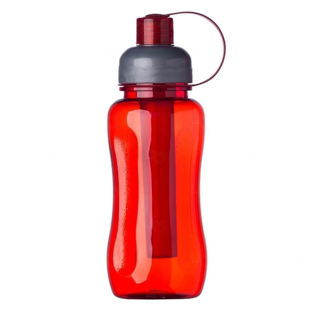 Squeeze Ice Bar Plástico Personalizado - 600ml Vermelho