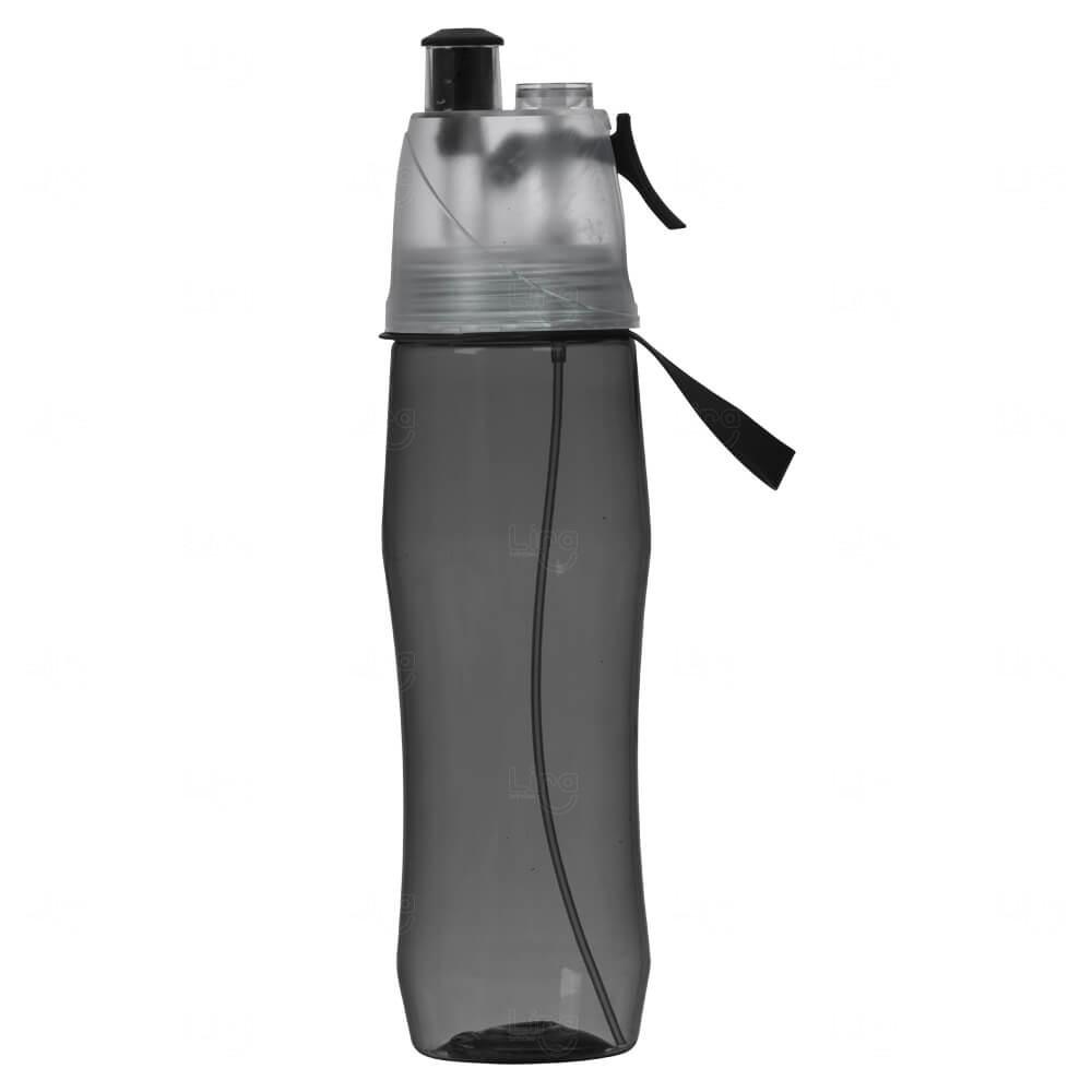 Squeeze Plástico Personalizado Com Borrifador - 700ml Preto