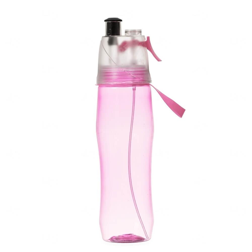 Squeeze Plástico Personalizado Com Borrifador - 700ml Rosa