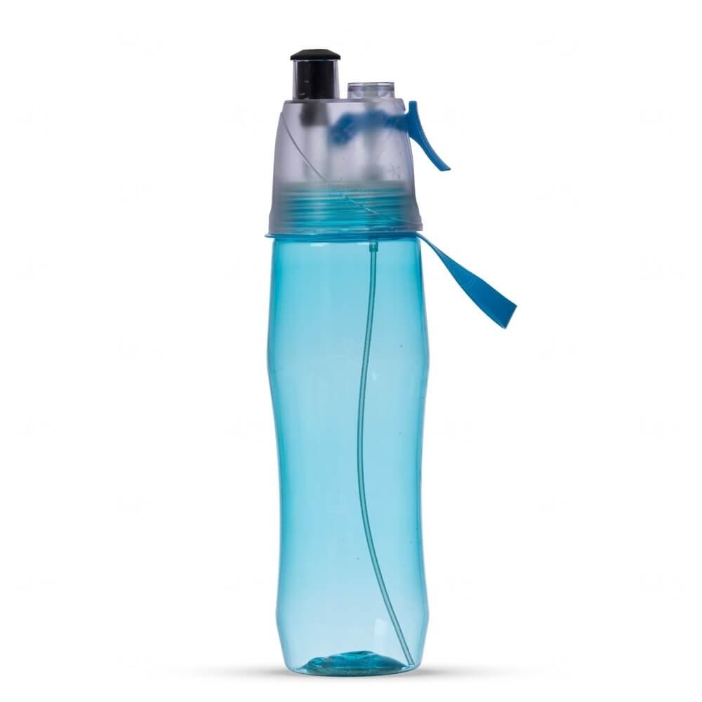 Squeeze Plástico Personalizado Com Borrifador - 700ml Azul