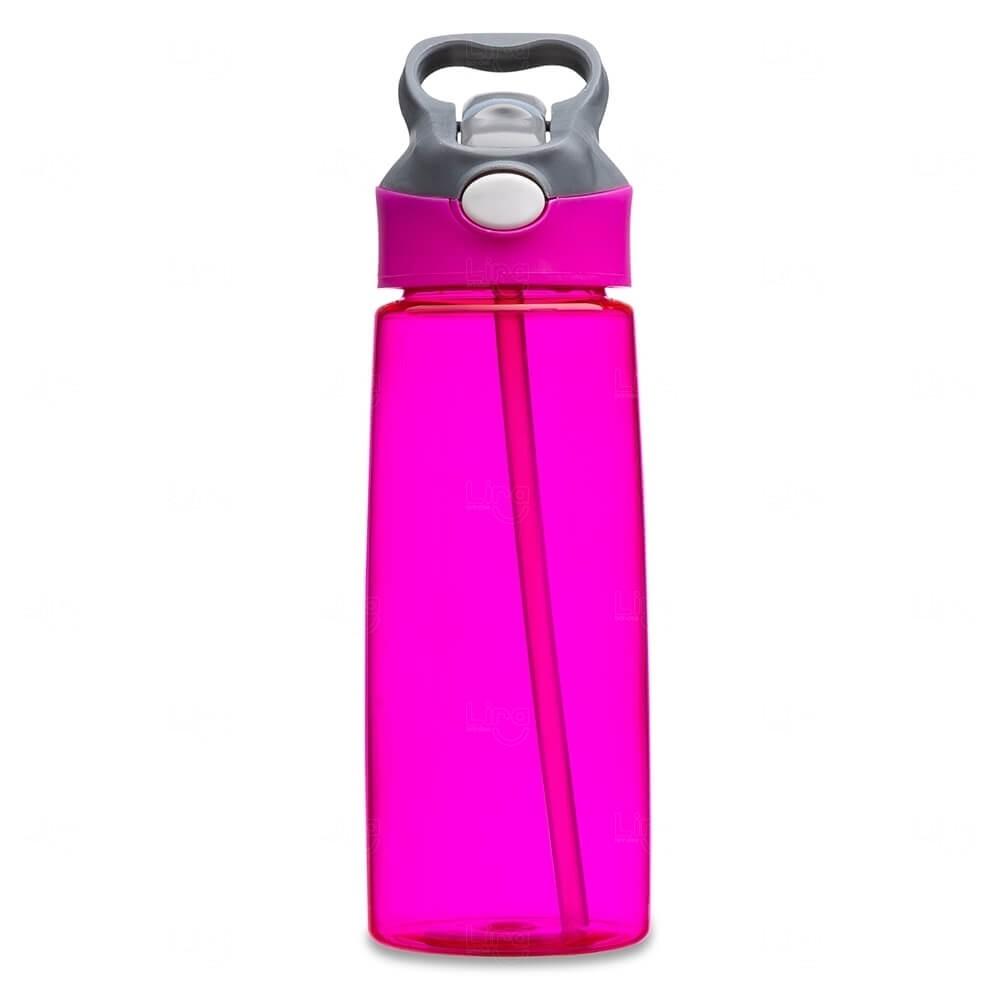 Squeeze Plástica Personalizada - 650ml Rosa