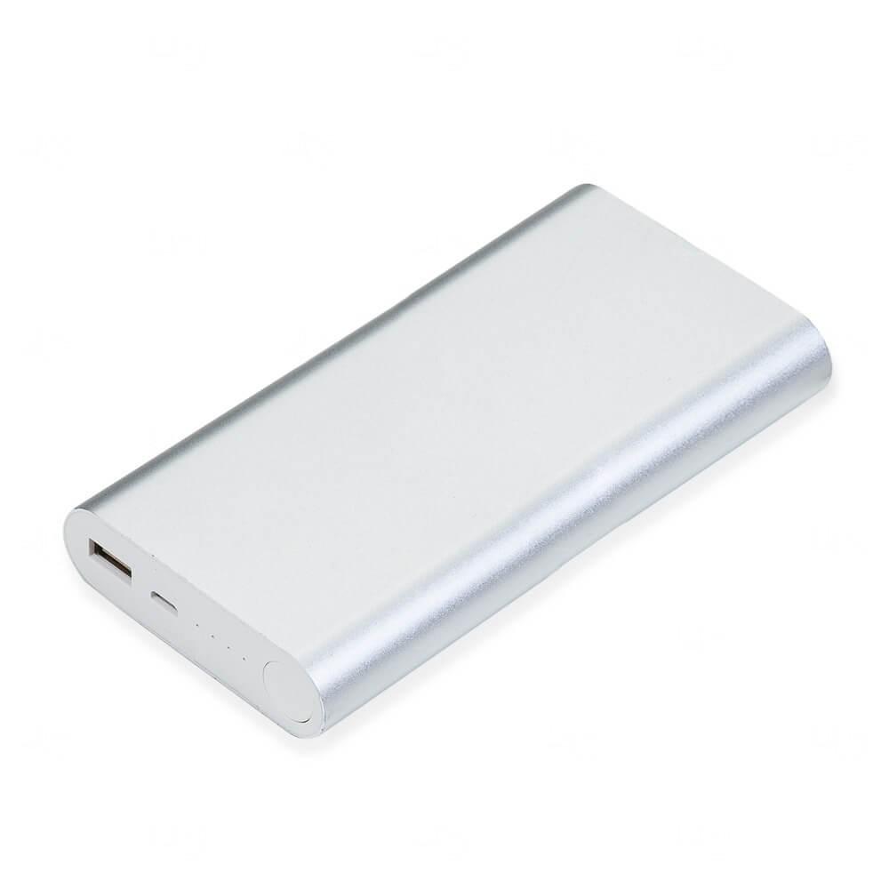 PowerBank Metal Personalizado - 8.000 mAh Prata