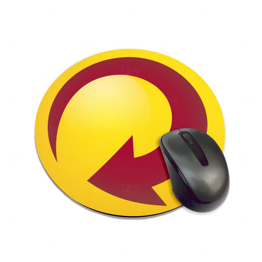 Mouse Pad Redondo ou Quadrado 100%  Personalizado Amarelo