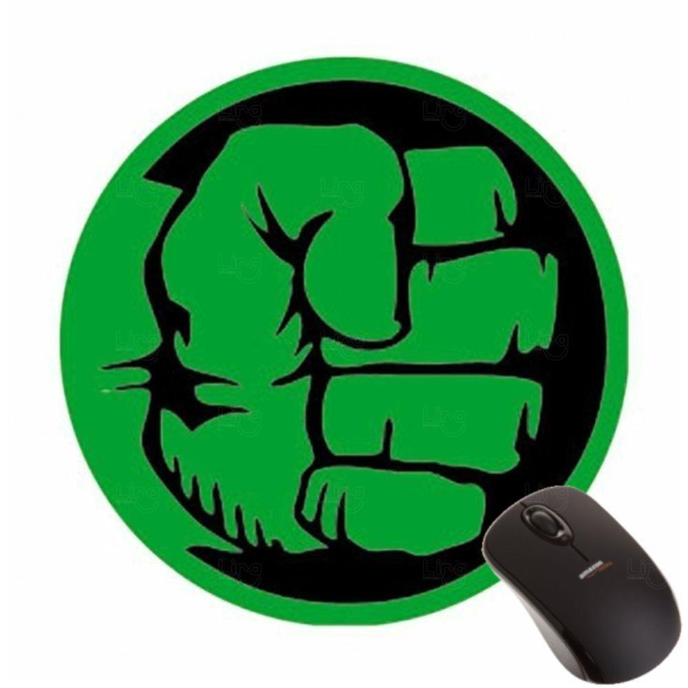 Mouse Pad Redondo ou Quadrado 100%  Personalizado Verde