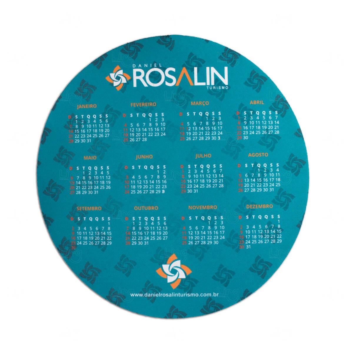 Mouse Pad Redondo ou Quadrado 100%  Personalizado Azul Claro