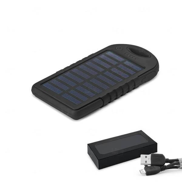 Bateria Portátil Solar Personalizada - 2.000 mAh