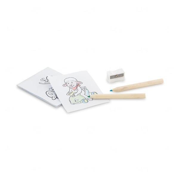 Kit Para Colorir Em Caixa de Cartão Personalizado