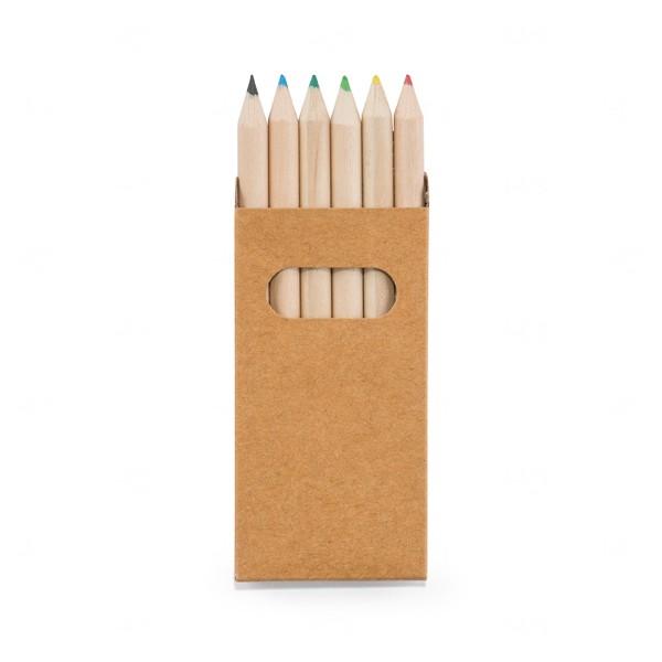 Caixa Com 6 Mini Lápis De Cor Personalizado